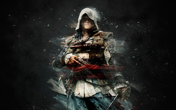Wallpaper Assassin's Creed, black background