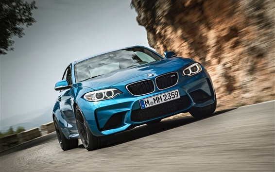 Wallpaper BMW M2 F87 blur car front view