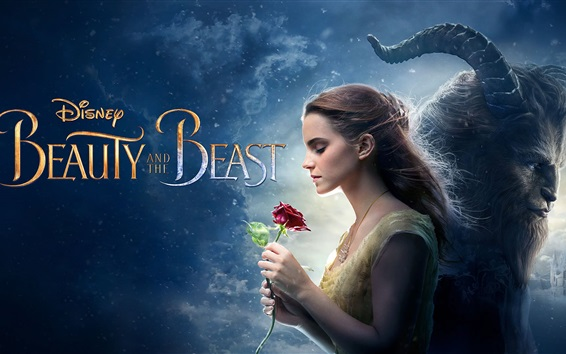 Wallpaper Beauty and the Beast, Disney movie