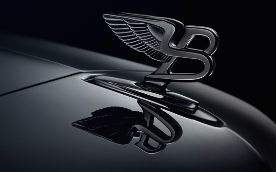 Wallpaper Bentley logo, black background
