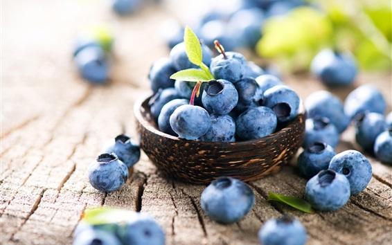 Обои Черника, крупный план с фруктами