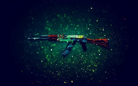 Обои CS игра GO, АК-47 автомат
