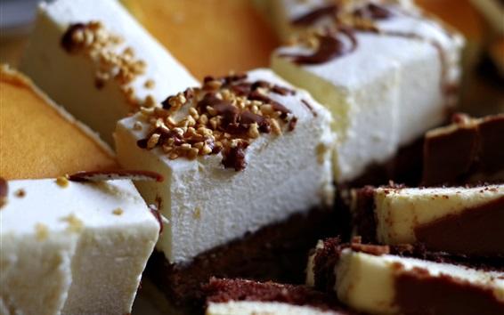 Wallpaper Cake piece, desserts, food