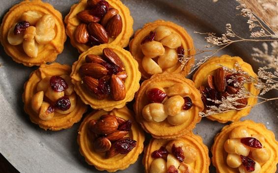 Wallpaper Cakes, nuts, food, dessert