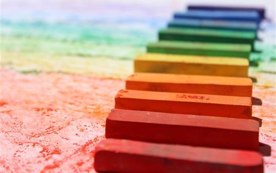 Wallpaper Colorful chalks