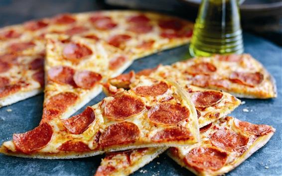 Papéis de Parede Deliciosa pizza, tomate