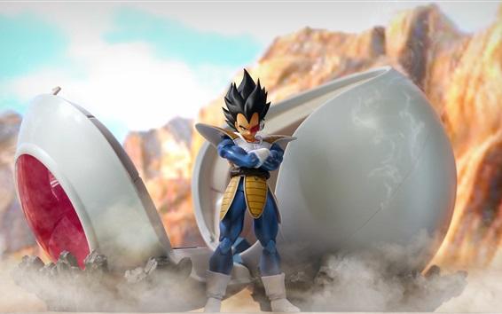 Fondos de pantalla Dragon Ball Z, Super Saiyan, anime en 3D