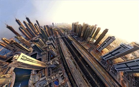 桌布 迪拜,城市,摩天大樓,高速公路,阿聯酋