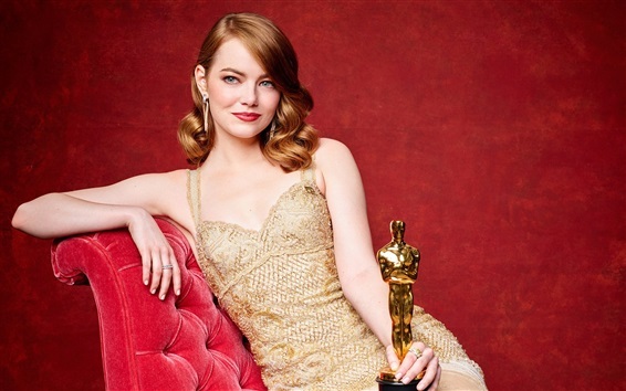 Wallpaper Emma Stone, Oscar 2017