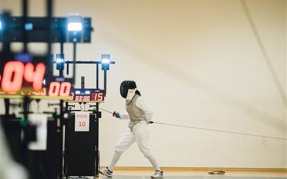 Wallpaper Fencing, sword, girl