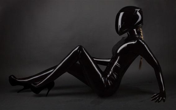 Fond d'écran Futur, noir, vêtements, blond, girl, pose