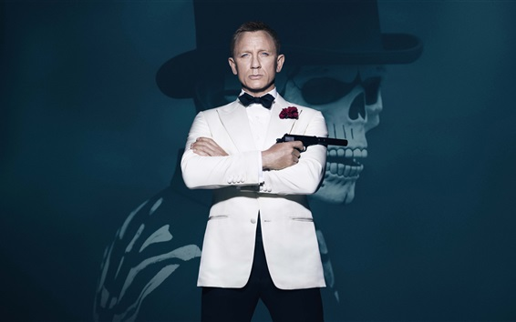 Fond d'écran James Bond, vêtements blancs, 007