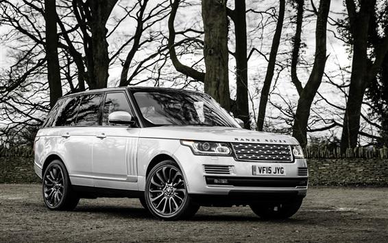 Fond d'écran Land Rover Range Rover SUV voiture, arbres