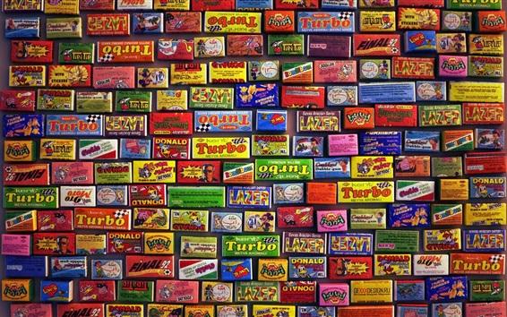 Papéis de Parede Muitas marcas de doces