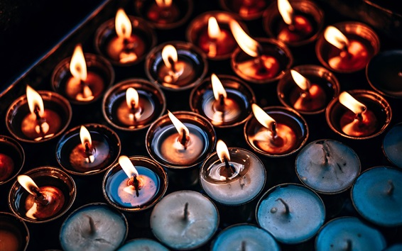 Papéis de Parede Muitas velas, chama