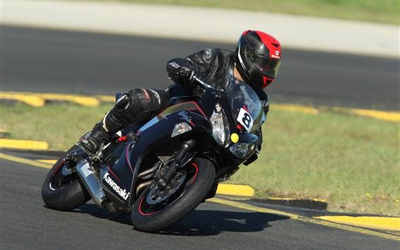 Wallpaper Motorcycle racing, Kawasaki