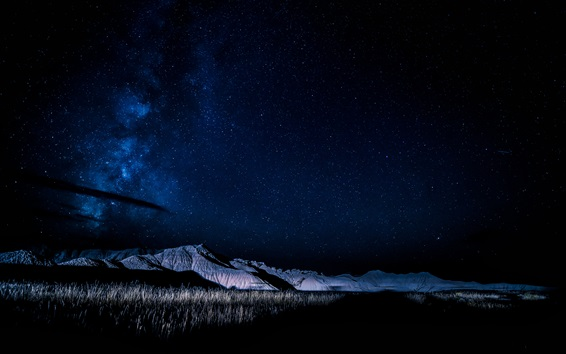 Wallpaper Nebraska, USA, mountains, night, stars