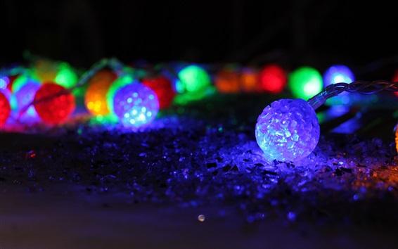 Fondos de pantalla Año Nuevo, las luces de vacaciones, la noche