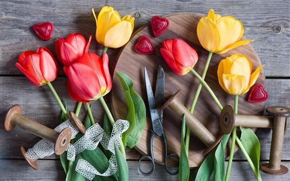 Papéis de Parede Laranja, vermelho, tulips