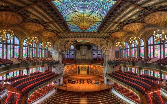 Wallpaper Palau de la Musica Catalana, Barcelona