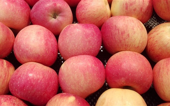 Wallpaper Red apples close-up, shop