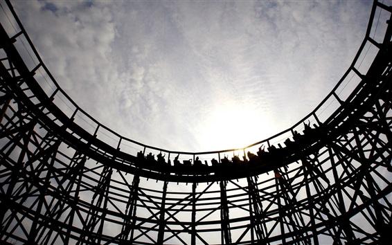 Fond d'écran Roller coaster, installations récréatives