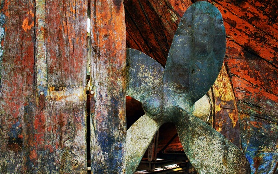 Wallpaper Rusty ship impeller