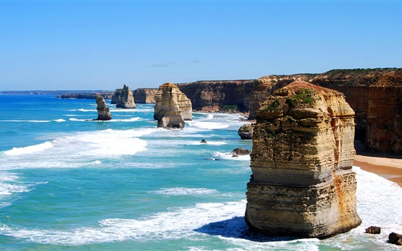 Wallpaper Sea, ocean, stones, nature