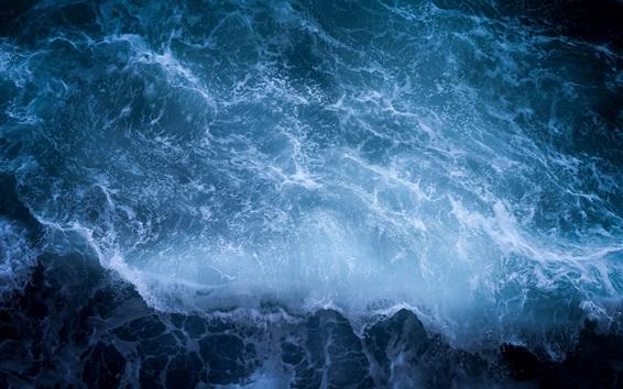 Обои Морская волна, пена