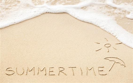 Wallpaper Summer time, beach, waves