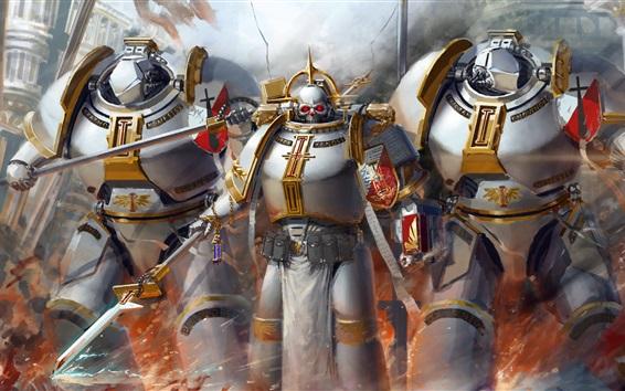 Fond d'écran Warhammer 40K, chevaliers gris, photo d'art