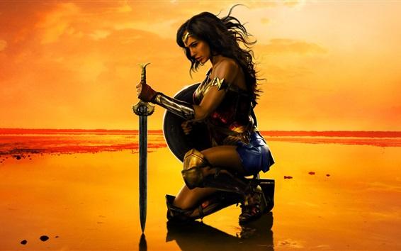 Fond d'écran Wonder Woman, Gal Gadot, bande dessinée DC