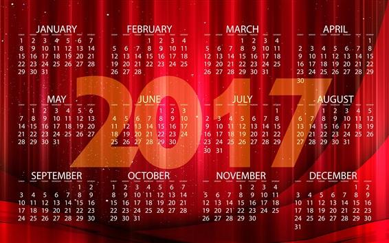 Wallpaper 2017 New Year calendar