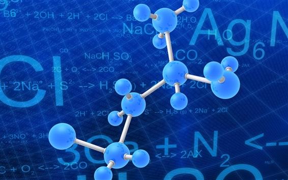 Wallpaper 3D atoms picture