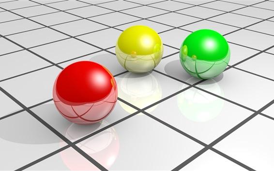 Fondo Fondos De Pantalla Verde Amarillo Y Rojo: 3D Bolas, Rojo Amarillo Y Verde Fondos De Pantalla