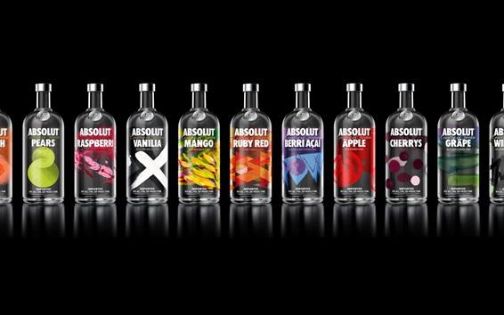 Fond d'écran Absolut Vodka beaucoup de goût varié