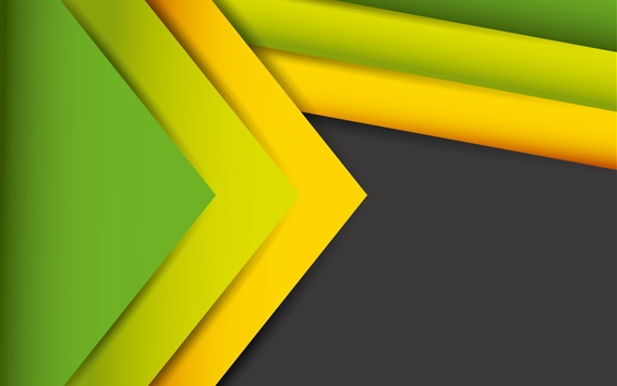 Wallpaper Abstract lines, stripes, yellow and green
