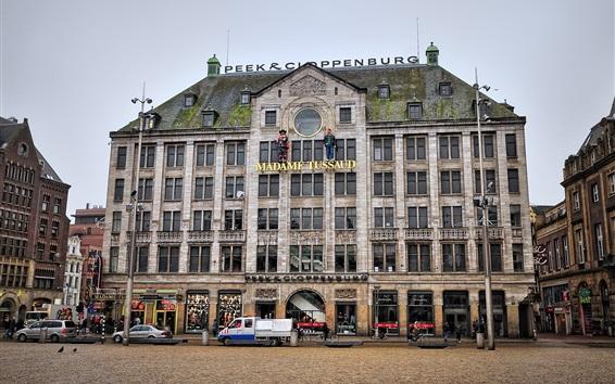 Wallpaper Amsterdam, Netherlands, capital, city, cars, street
