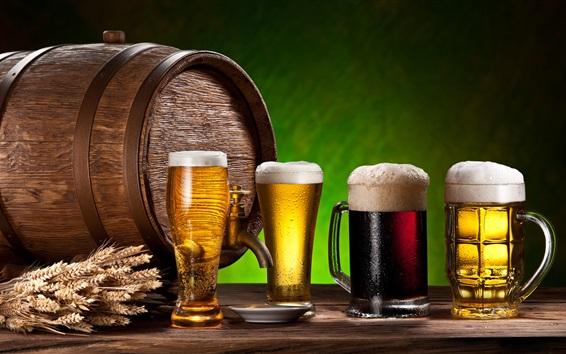 Fond d'écran Bière, boissons, verres, blé