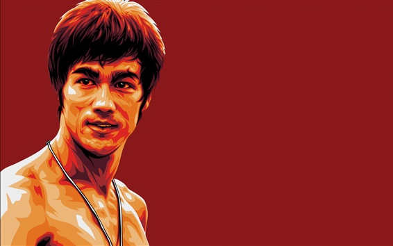 Wallpaper Bruce Lee, art picture