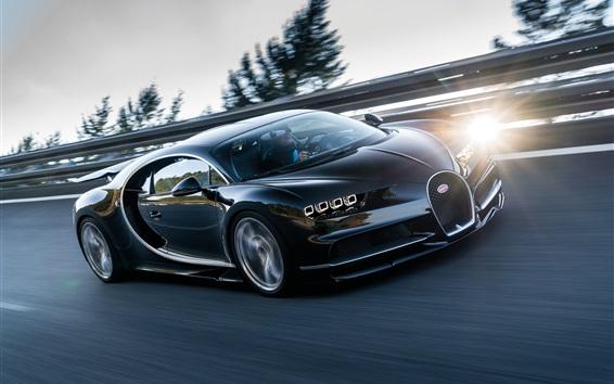 Papéis de Parede Bugatti Chiron 2016 supercar de alta velocidade