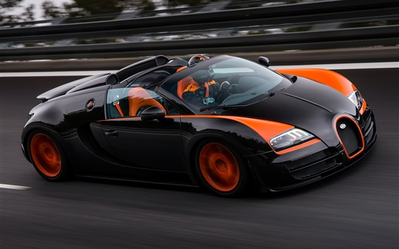 Wallpaper Bugatti Veyron Grand Sport roadster speed