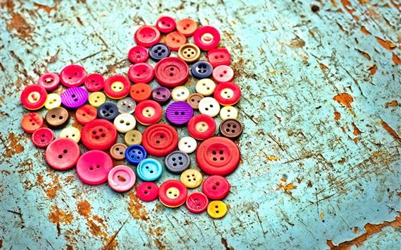 Wallpaper Buttons love heart