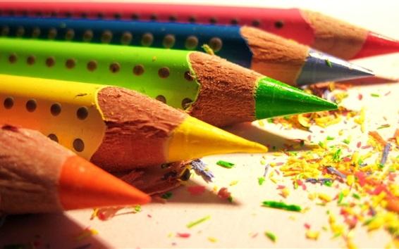Wallpaper Colored pencils and colorful debris