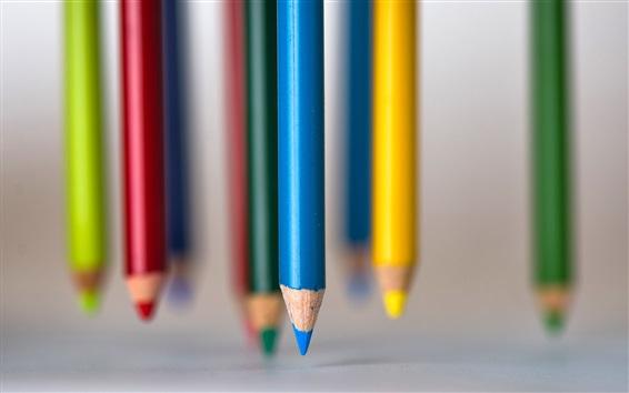 Papéis de Parede Lápis de cor, fundo embaçado