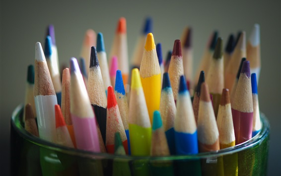 Wallpaper Colored pencils, colorful, sharpened