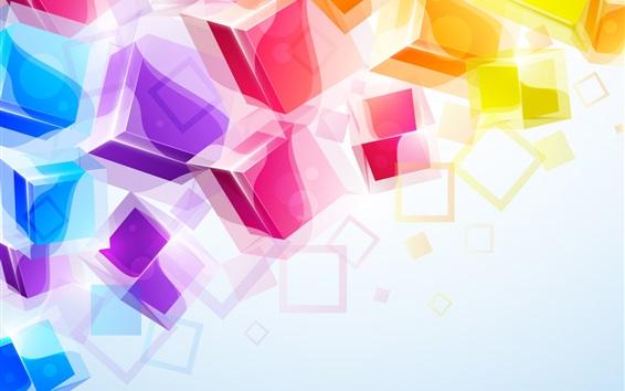 Обои Красочный фон 3D кубов