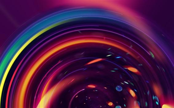 Wallpaper Colorful circles, abstract