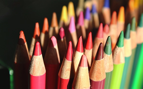 Wallpaper Colorful crayons