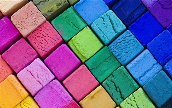 Wallpaper Colorful cubes, abstract art